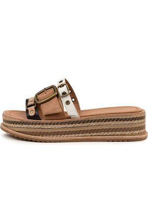 Django & Juliette Vitan Dj Tan Sandals Womens Shoes Casual Sandals Flat Sandals