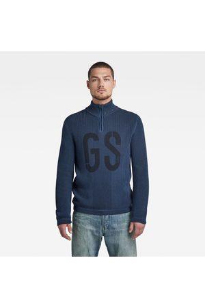 G-Star RAW GS Structured Half Zip Knitted Sweater