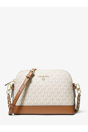 MICHAEL Michael Kors Women Shoulder Bags - MK Large Logo Dome Crossbody Bag - Vanilla/acorn - Michael Kors