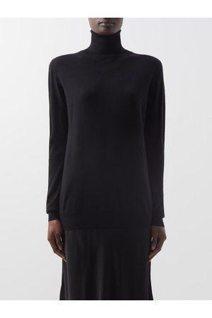 Raey Roll-neck Fine-knit Merino-wool Sweater - Womens