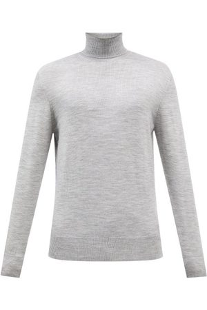 Raey Men Turtlenecks - Mercerised Merino Wool Roll-neck Sweater - Mens - Light