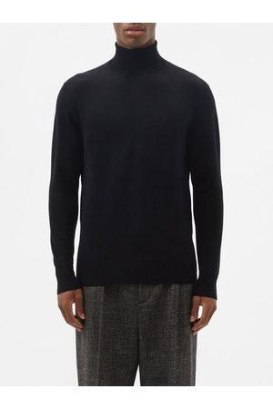 Raey Mercerised Merino Wool Roll-neck Sweater - Mens - Navy