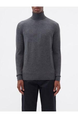 Raey Men Turtlenecks - Mercerised Merino Wool Roll-neck Sweater - Mens - Charcoal