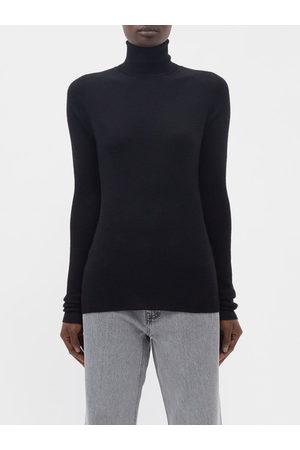 Raey Women Turtlenecks - Roll-neck Fine-rib Merino-wool Sweater - Womens
