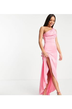 TFNC Tall Women Party Dresses - Bridesmaid one-shoulder maxi dress in