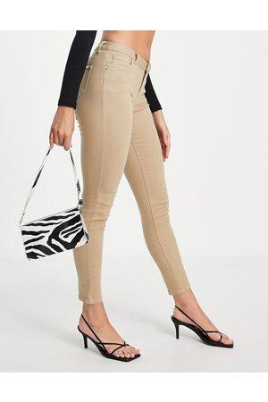 Morgan Low waist skinny jean in -Brown