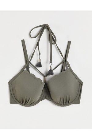 Hunkemoller Women Bikinis - Scallop glam underwire bikini top in