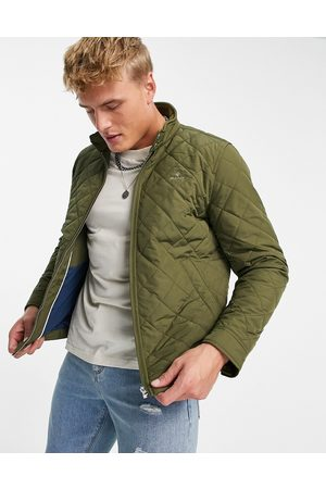 GANT Icon logo quilted harrington jacket in racing