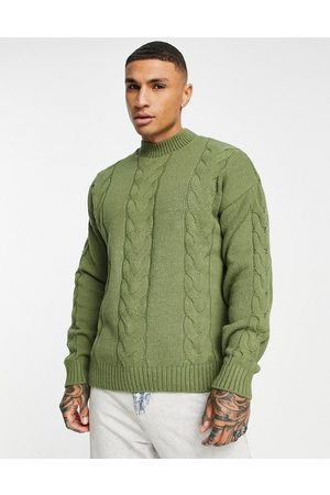 ASOS Oversized cable knit jumper in -Green