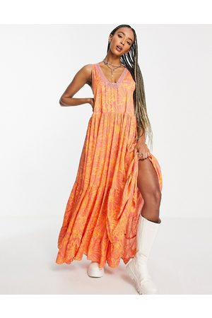 Free People Tiers For You printed maxi dress in