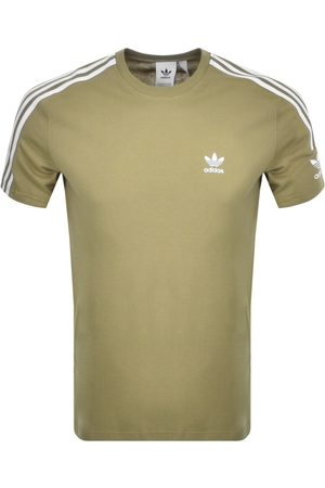 Adidas Originals Men Short Sleeve - Tech 3 Stripe T Shirt