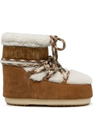 Moon Boot Women Snow Boots - Shearling-trim snow boots