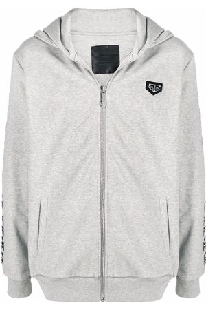 Philipp Plein Studded zip-up hoodie