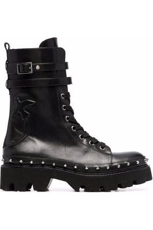 Pinko Love Birds combat boots