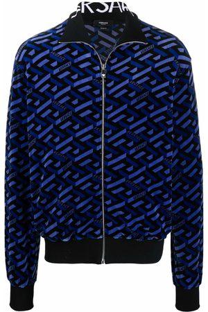 Versace Graphic-print zip-fastening jacket