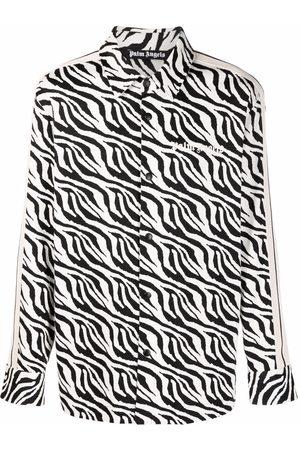 Palm Angels Men Casual - Zebra-print shirt