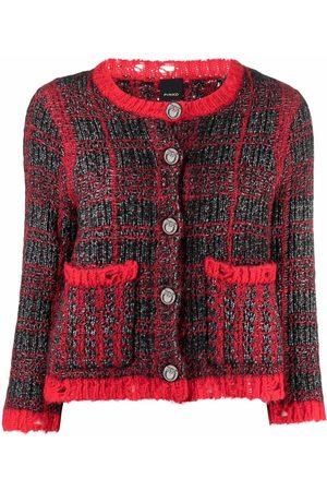 Pinko Distressed-finish tweed jacket