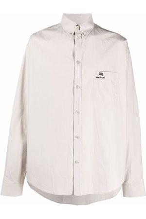 Balenciaga Embroidered logo button-down shirt