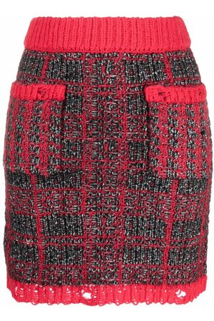 Pinko Women Skirts - Distressed-finish tweed skirt