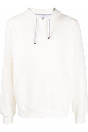 Brunello Cucinelli Men Hoodies - Braided drawstring hoodie