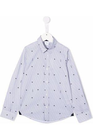 HUGO BOSS Star-print cotton shirt
