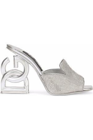 Dolce & Gabbana Women Heels - DG-heel gemstone-embellished mules