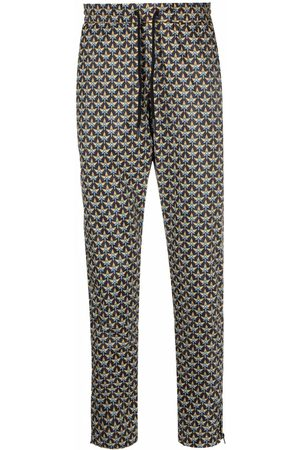 Paco rabanne Formal Pants - Pattern-print tapered trousers