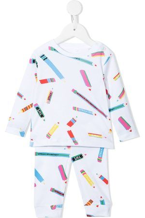 Stella McCartney Pencils-print cotton tracksuit