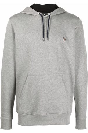 PS Paul Smith Men Sweaters - Embroidered-logo pullover hoodie