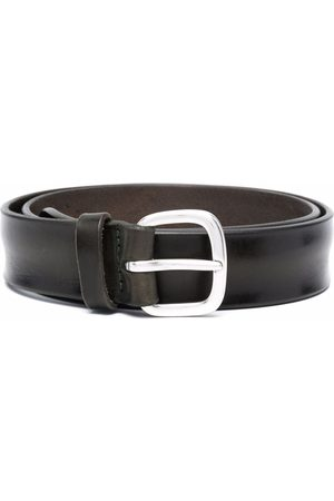 Orciani Rounded buckle leather belt