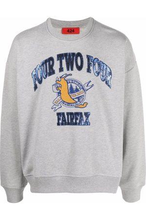 424 FAIRFAX Embroidered varsity-style sweatshirt