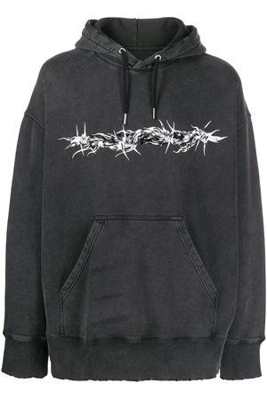 Givenchy Men Hoodies - Barbed Wire printed hoodie