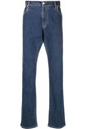 BILLIONAIRE Men Straight - Logo-embroidered jeans