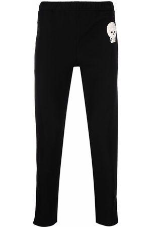 Alexander McQueen Skull-patch slim-fit track pants