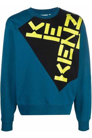 Kenzo Logo-print colour-block sweatshirt