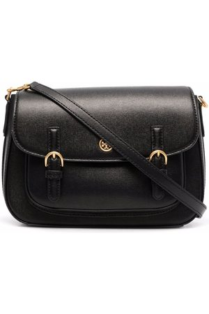 Tory Burch Logo-plaque leather tote bag