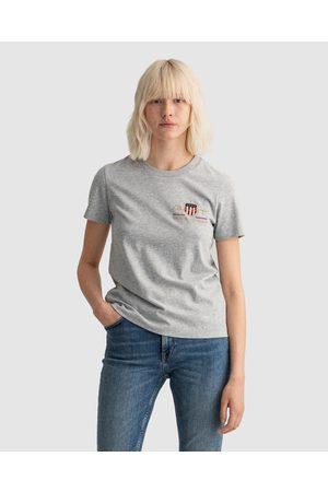 Gant Archive Shield T Shirt - T-Shirts & Singlets ( MELANGE) Archive Shield T-Shirt