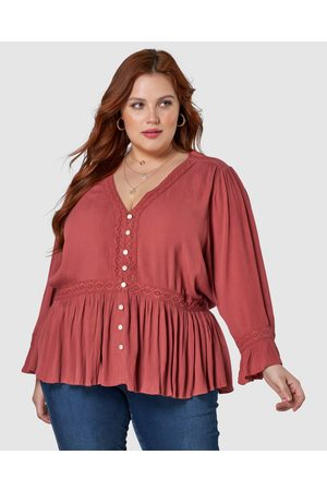 Something 4 Olivia Women Blouses - Audrey Crinkle Blouse - Tops Audrey Crinkle Blouse
