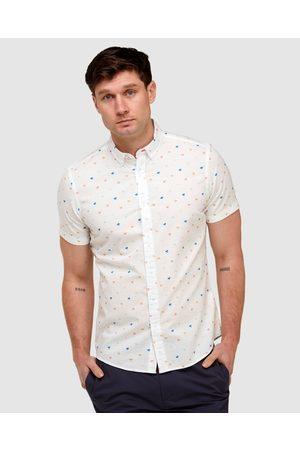 Brooksfield Men Casual - Palm Print Casual Shirt - Casual shirts Palm Print Casual Shirt