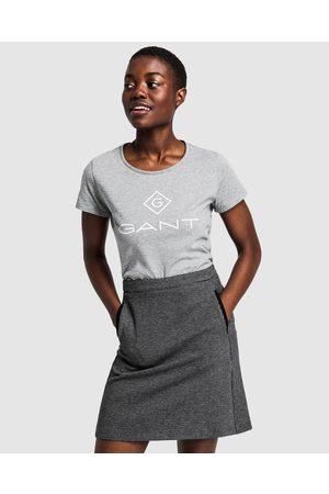 GANT Lock Up T Shirt - Short Sleeve T-Shirts ( MELANGE) Lock Up T-Shirt