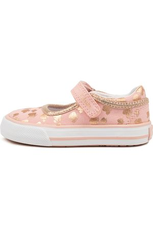 CLARKS 202787 Lizzie Tot Ck Musk Rose Butterfly Shoes Girls Shoes Casual Flat Shoes