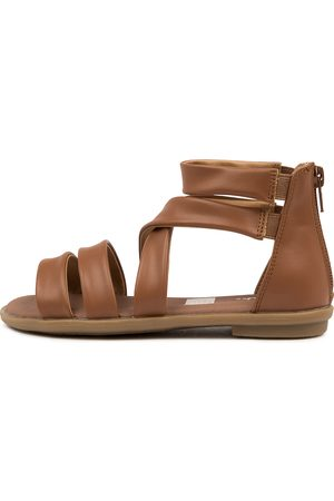 CLARKS 202802 Holly Iii Jnr Ck Tan Sandals Girls Shoes Casual Sandals Flat Sandals