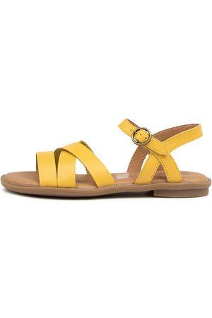 CLARKS 202800 Helena Jnr Ck Mustard Sandals Girls Shoes Casual Sandals Flat Sandals