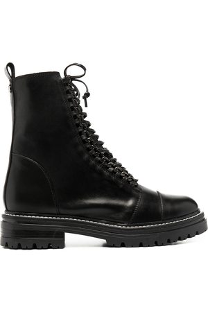 Carvela Sultry Chain combat boots