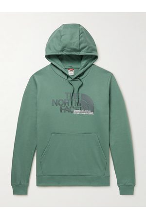 The North Face Men Hoodies - Logo-Print Cotton-Jersey Hoodie