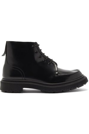 ADIEU PARIS Chunky-sole Leather Ankle Boots - Mens