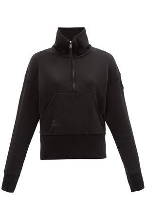 Moncler Women Sweatshirts - Logo-patch Cotton-jersey Sweatshirt - Womens
