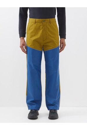 Moncler Men Sports Pants - 1952 - Bi-colour Cotton And Nylon-shell Trousers - Mens