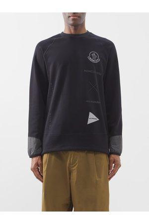 Moncler Men Sweatshirts - 1952 - Logo-print Fleece Sweatshirt - Mens