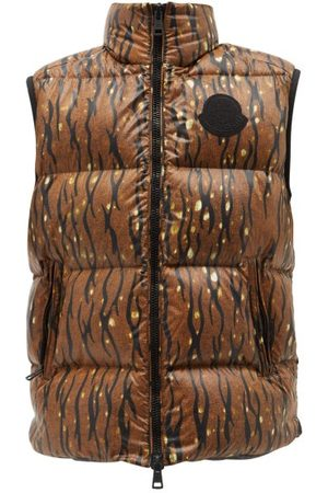 Moncler Men Winter Jackets - 1952 - Sumida Camouflage-print Quilted Nylon-laqué Gilet - Mens